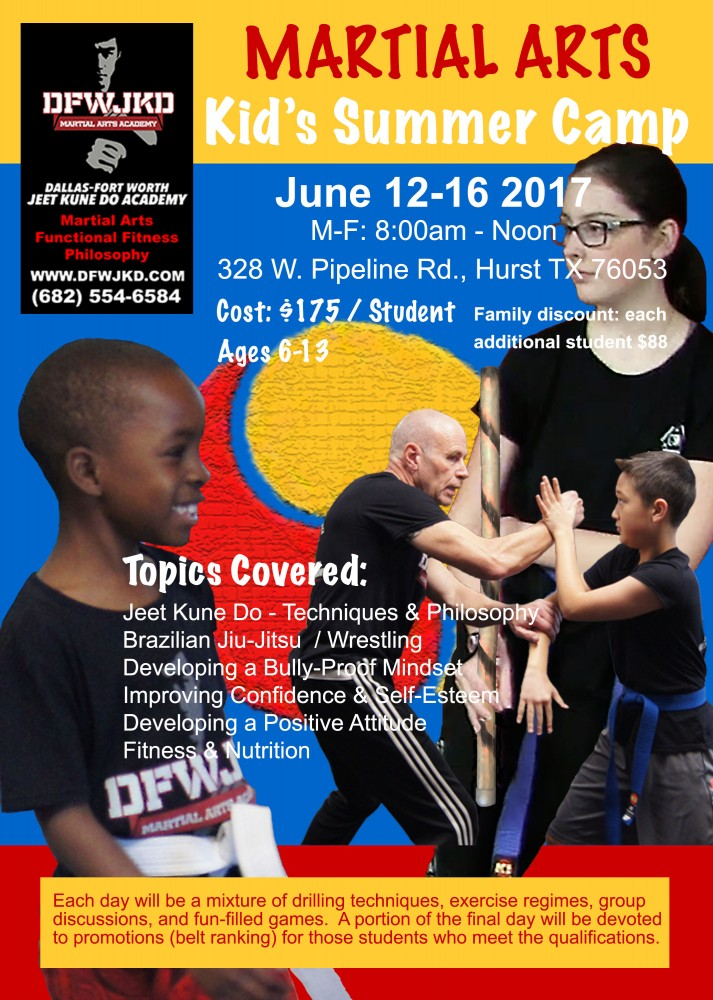 DFW Jeet Kune Do Kids Summer Camp 2017