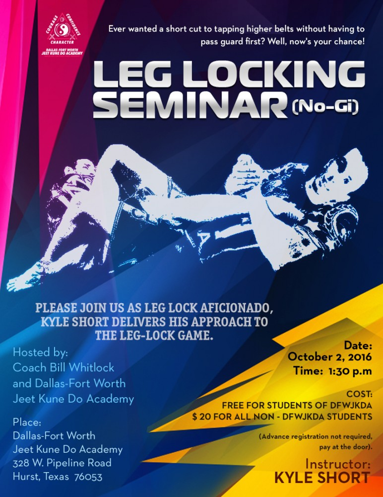 Leg locking seminar by Kyle Short